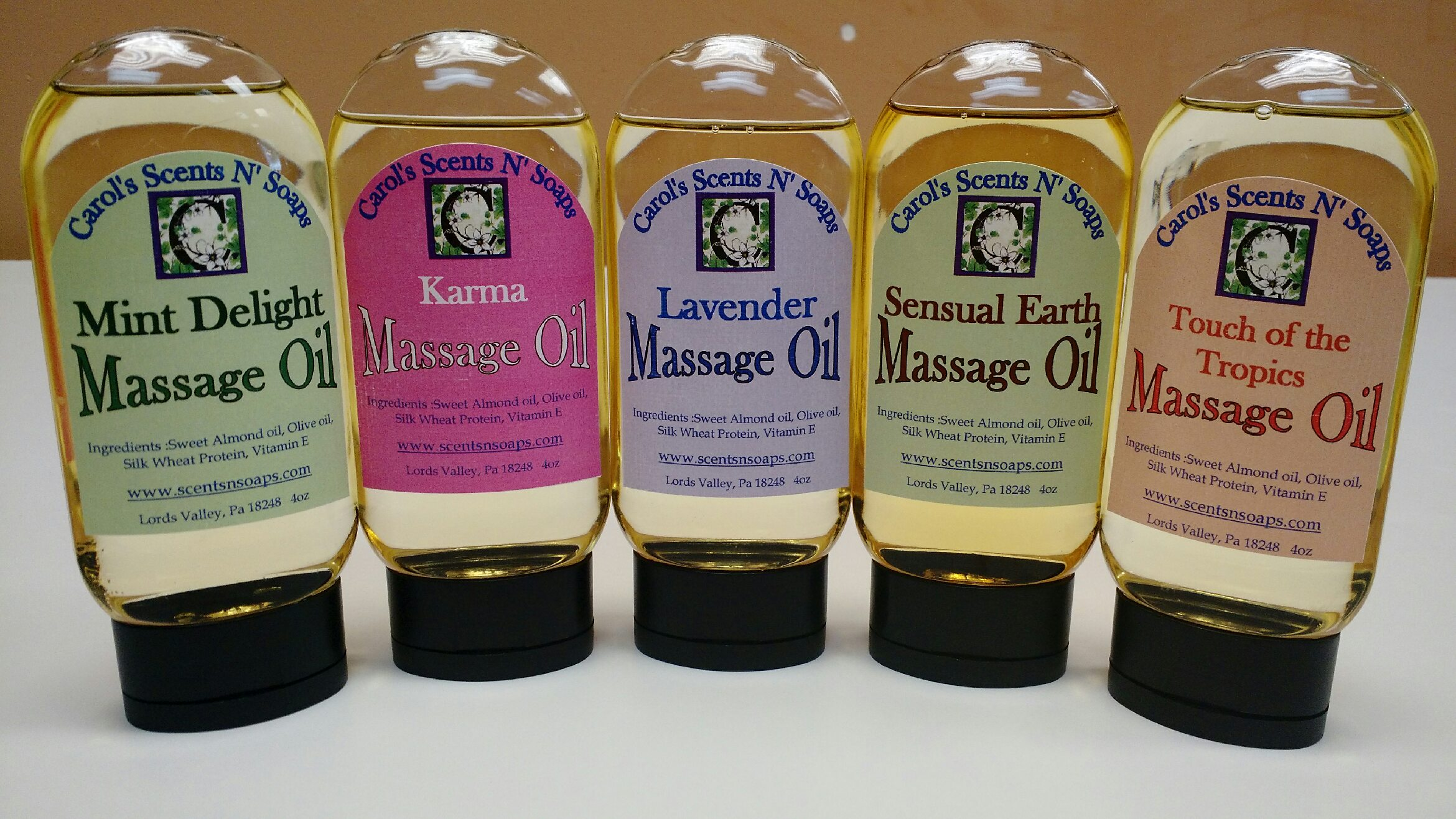 Scented Massage Oils